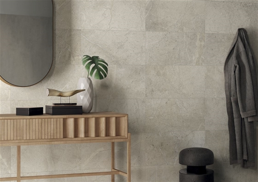 anto white porcelain panels in a room