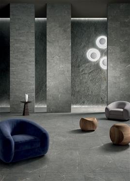 anto grey porcelain panel living room