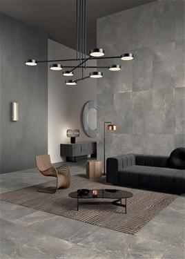 anto earth porcelain panel living room